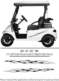 Golf Cart Vinyl Graphic Decals F101 Set Of 2 Shop Vinyl Design