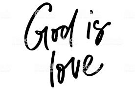 god is love handwritten text modern calligraphy inspirational