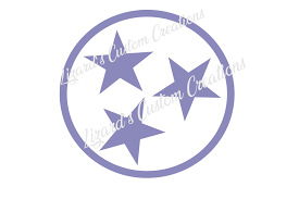 Tennessee Flag Tri Star Sign Custom Monogram License Plate Auto Car Tag No Decal