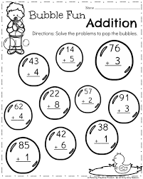 first grade worksheets for spring math