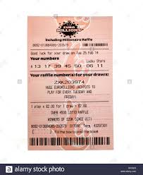 Euro Millions Lottery Ticket on a white ...