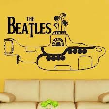 Amazon Com The Beatles Yellow Submarine Decal Vinyl Wall Sticker Cel101 Yellow Home Kitchen