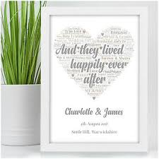 personalised wedding present for bride