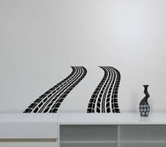 Tire Tracks Wall Sticker Car Traces Vinyl Decal Racing Art Kids Room Decor Ttr4 611267257153 Ebay