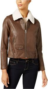 lucky brand women s faux fur collar