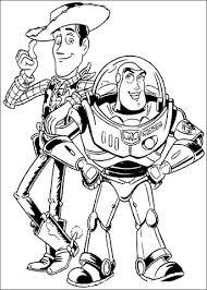 Buzz Lightyear En Woody Sheriff Kleurplaat Gratis Kleurplaten