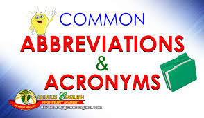 Common Abbreviations and Acronyms - (IELTS in the Philippines) - Learn  English in the Philippines | Ielts, Learn english, Abbreviations