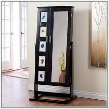 full length floor mirror with jewelry