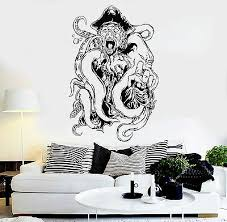 Vinyl Wall Decal Pirate Octopus Tentacles Kraken Ocean Creature Stickers Ig3663 Ebay