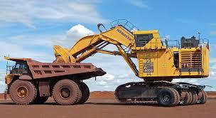 excavator dump truck komatsu pc4000