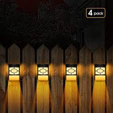 Briignite Solar Deck Lights Led Outdoor Wall Mount Fence Post Lights 2 Modes Warm White Rgb Color Changing Decorative Light For Outdoor Deck Patio Stairs Yard Driveway Pathway Pack Of 4 Amazon Com