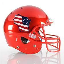 3 Color American Flag Football Helmet Decals Healy Awards