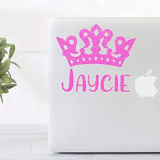 Amazon Com Glitter Name With Princess Crown Vinyl Decal For Yeti Tumblers Ipads Laptops Binders Phone Cases Etc Handmade