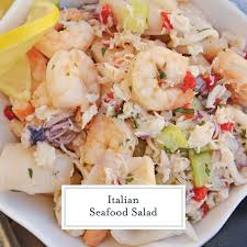 This Italian Seafood Salad, made with ...