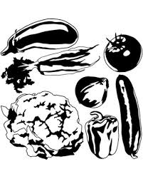 Remarkable Deals On Vegetable Set Wall Decal Black 20 X20