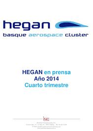 Hegan En Prensa Cuarto Trimestre 2014 By Pool De Comunicacion Sl