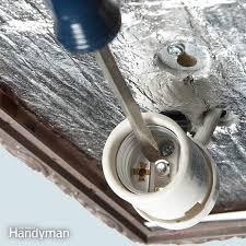 repair a light fixture family handyman