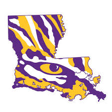 Lsu Decal State Outline Tiger Eye 4