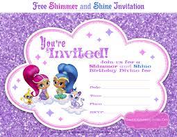 Shimmer And Shine Party Invitaciones De Fiesta De Cumpleanos