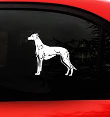 Amazon Com Greyhound Dog Vinyl Decal For Cars Racing Facing Left Kitchen Dining