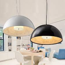 modern black white led hanglamp sky