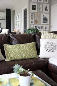 brown leather sofa for the family room