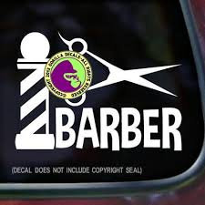 Barber Pole Vinyl Decal Sticker Gorilla Decals