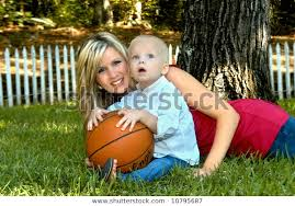 Mom Child Have Little Basketball Time Stock Photo Edit Now 10795687