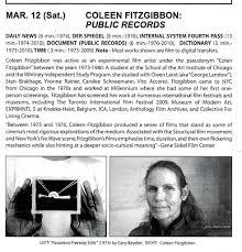 Millennium Film Workshop, New York, NY. March 12, 2011.   COLEEN ...