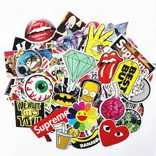 Cute Creative Vinyl Laptop Skateboard Stickers Bomb Luggage Decals Dope Sticker Wall Stickers Aliexpress