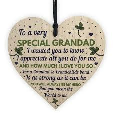wood heart grandad birthday gift