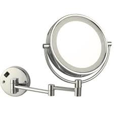 magnifying wall mounted vanity mirror