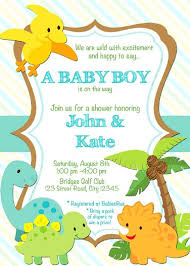 Dinosaur Ba Shower Invitations Online Party Invitation Card In