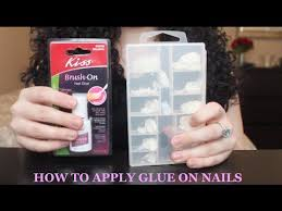 tutorial how to apply glue on nails