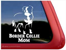 Border Collie Dog Stickers Decals Nickerstickers