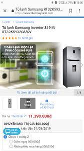 Tủ lạnh Samsung Inverter 320L 2 giàn lạnh,như mới.Còn Bảo hành dài ...
