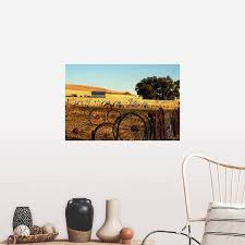 Shop Washington Palouse A Fence Made Of Wagon Wheels Poster Print Overstock 16478431