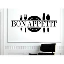 Fashion Bon Appetit Food Wall Stickers Kitchen Room Decals Diy Vinyl Posters