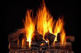 fireplace glass doors gas logs