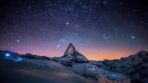 a mounn with a nice sky 4k wallpaper