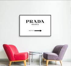 Prada Marfa Sign Printable Wall Art Ellaroseinteriors