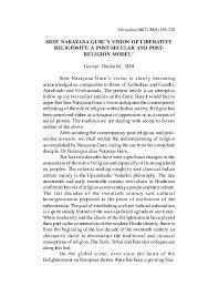 pdf sree narayana guru s vision of liberative religiosity a post
