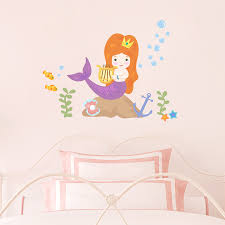 Mermaid Printed Wall Decal Kid S Mermaid Wall Decor
