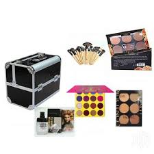 makeup box red silver or black