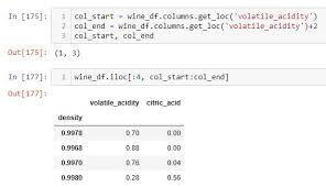 select rows and columns in pandas