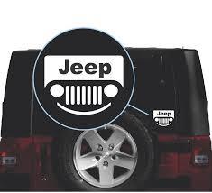 Jeep Wrangler Smile Grill Window Decal Sticker Sticker Flare Llc