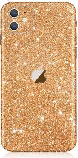 Amazon Com Iphone 11 Bling Skin Sticker Supstar Full Body Glitter Vinyl Decal Dustproof Anti Scratch For Apple Iphone 11 Champagne Gold