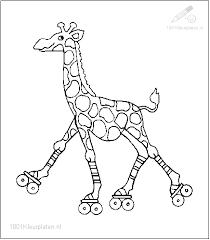 1001 Kleurplaten Dieren Giraffe Kleurplaat Giraffe Op