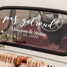 Afrikaans Wedding Car Decor Decal Pas Getroud Bruilof Venster Plakker Match Set Love