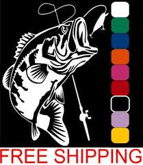 Large Mouth Bass Vinyl Decal 6 X 4 75 Car Window Vinyl Decals Scratchboard Art Vinyl